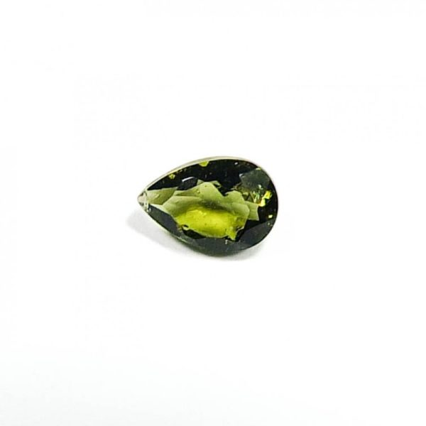 Faceted Small Drop Shape Moldavite With Certificate Of Authenticity (0.065grams) 1