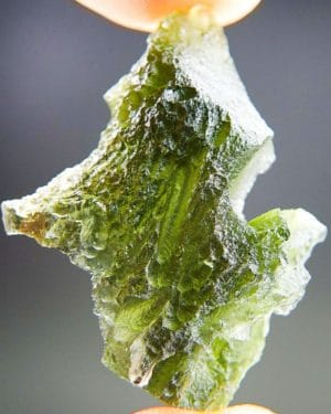 Quality A+/++ Uncommon Shape Bottle Green Moldavite With Certificate Of Authenticity (6.77grams) 1