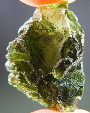 Quality A+ Olive Green Moldavite With Certificate Of Authenticity (5.95grams) 1