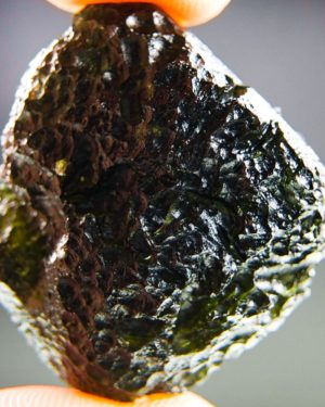 Shiny Corpulent Large Moldavite With Certificate Of Authenticity (19.41grams) 1
