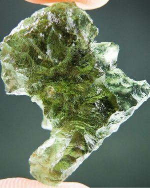 Quality A+ Shiny Moldavite From Besednice With Certificate Of Authenticity (4.02grams) 1