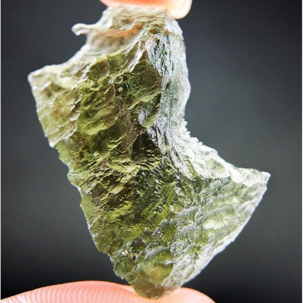 Shiny Olive Green Rare Shape Moldavite (5.16grams) 1