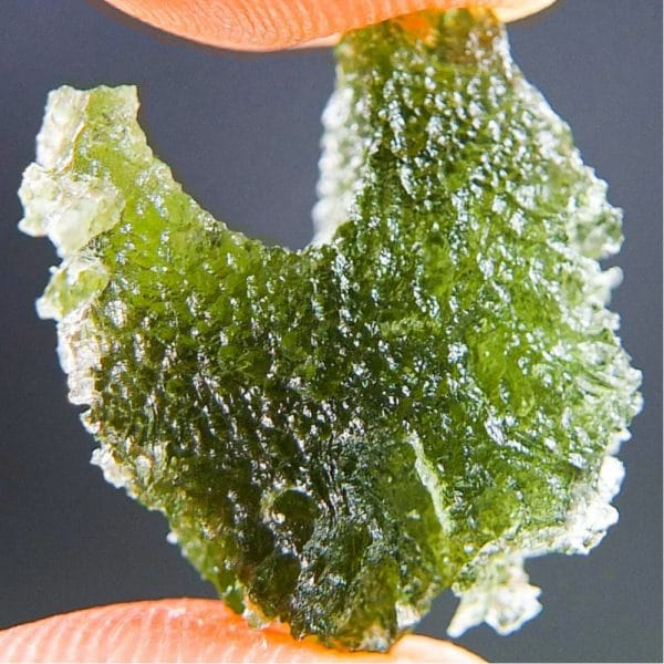 Quality A+ Uncommon Shape Bottle Green Raw Moldavite (3.32grams) 1