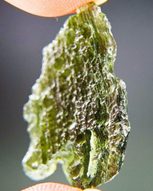 Quality A Shiny Green Raw Moldavite With Certificate Of Authenticity (6.87grams) 2