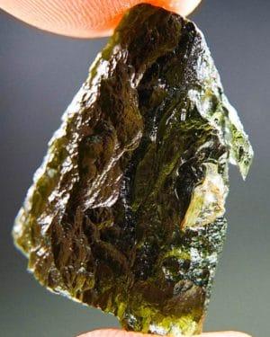 Glossy Olive Green Moldavite (4.77grams) 2