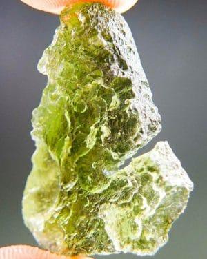 Olive Green Unique Shape Moldavite (4.36grams) 2