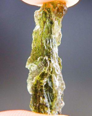 Shiny Olive Green Natural Piece Moldavite (2.07grams) 2