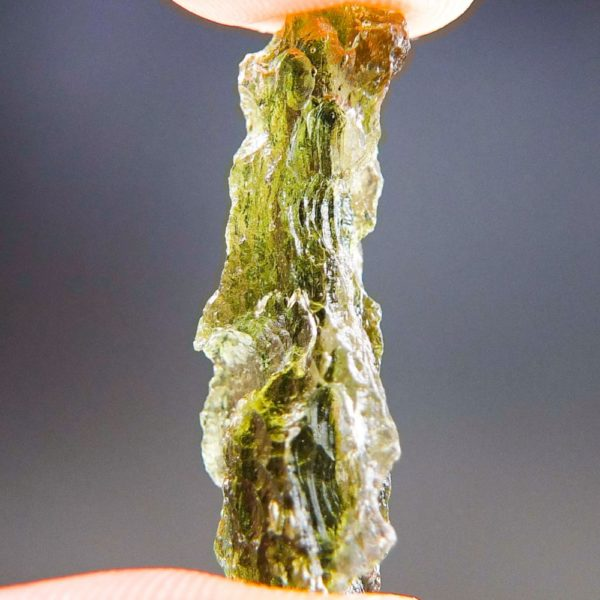 Shiny Olive Green Natural Piece Moldavite (2.07grams) 2