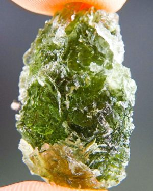 Natural Etched Break Rare Moldavite With Certificate Of Authenticity (5.97grams) 2