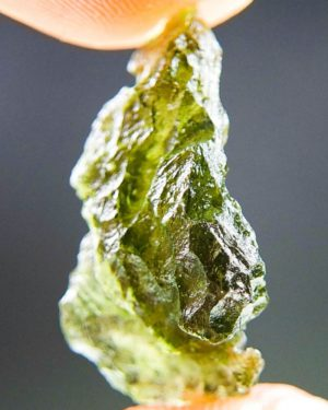 Quality A+ Shiny Moldavite From Besednice With Certificate Of Authenticity (2.21grams) 2