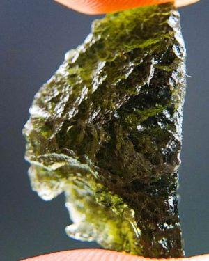 Quality A+ Glossy Brown Green Moldavite (2.65grams) 2
