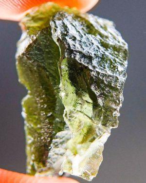 Shiny Rare Shape Moldavite (2.9grams) 2