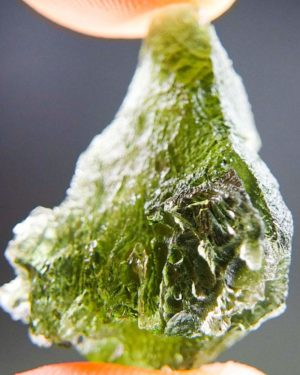 Quality A Olive Green Moldavite With Certificate Of Authenticity (4.77grams) 2