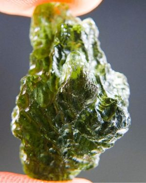 Quality A+ Light Abrasion Moldavite From Besednice With Certificate Of Authenticity (3.85grams) 2