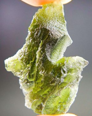Quality A+/++ Uncommon Shape Bottle Green Moldavite With Certificate Of Authenticity (6.77grams) 2
