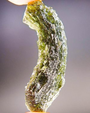 Quality A+/++ Shiny Chipped Moldavite With Certificate Of Authenticity (9.89grams) 2