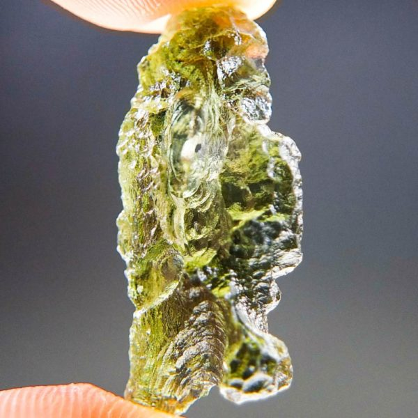 Quality A+/++ Shiny Olive Green Moldavite Natural Piece (2.03grams) 2