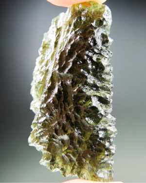 Quality A+ Glossy Olive Green Moldavite With Certificate Of Authenticity (9.85grams) 2