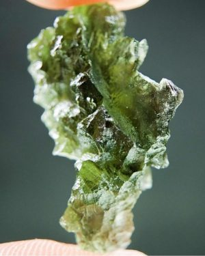 Quality A+ Shiny Moldavite From Besednice With Certificate Of Authenticity (4.02grams) 2