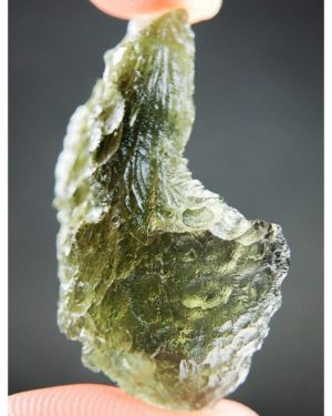Shiny Olive Green Rare Shape Moldavite (5.16grams) 2