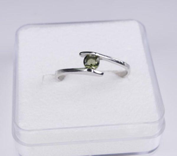 Round Cut Moldavite With Garnet Sterling Silver Earrings (1.1grams) 2