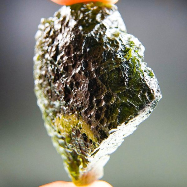 Large Glossy Open Bubble Moldavite With Certificate Of Authenticity (18.06grams) 2