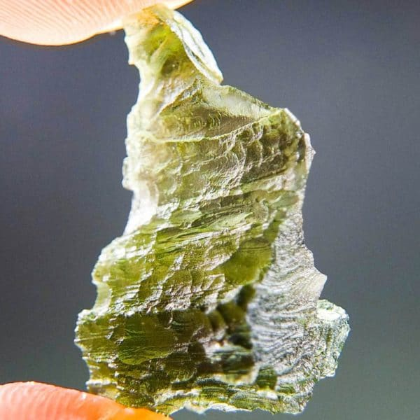 Uncommon Shape Olive Green Moldavite (3.02grams) 2