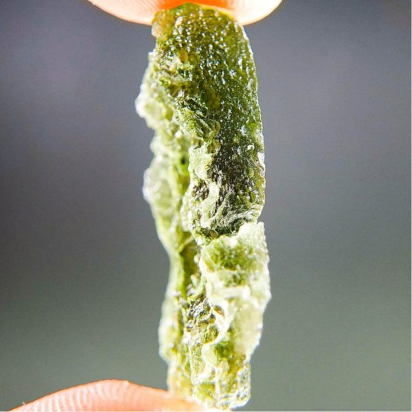 Olive Green Unique Shape Moldavite (4.36grams) 3