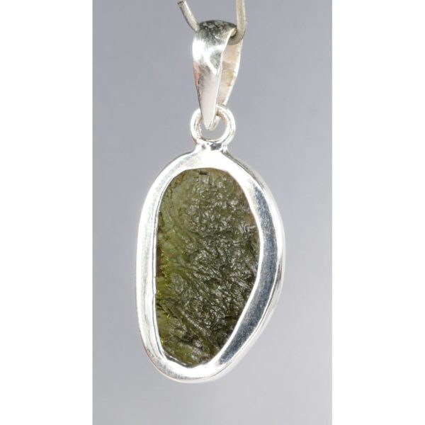 Beautiful Round One Side Faceted Modlavite In Sterling Silver Pendant (4.2grams) 3