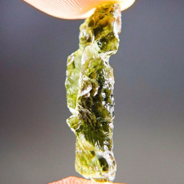Quality A+/++ Shiny Olive Green Moldavite Natural Piece (2.03grams) 3