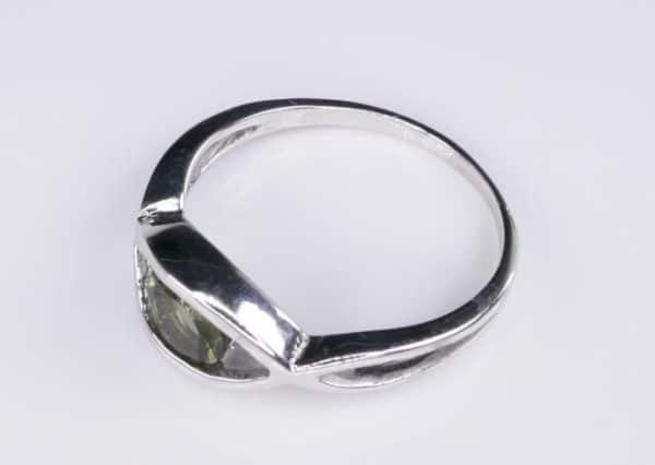 Excellent Shape Moldavite In Sterling Silver Ring (2.5grams) Ring Size: 53 (USA 6 1/2) 3