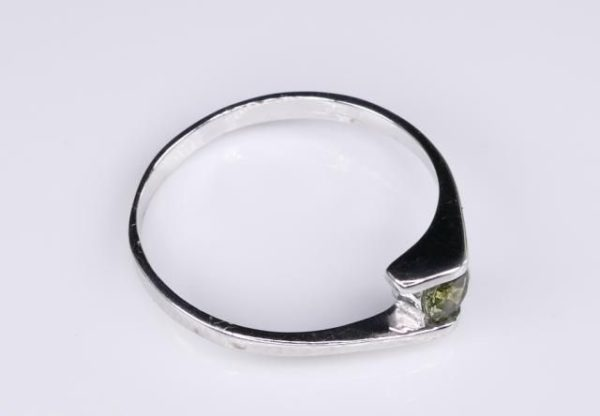 Round Cut Moldavite With Garnet Sterling Silver Earrings (1.1grams) 3