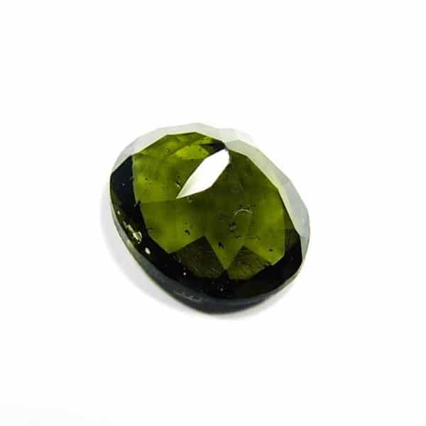 Faceted Closed Bubble Moldavite With Certificate Of Authenticity (0.67grams) 4