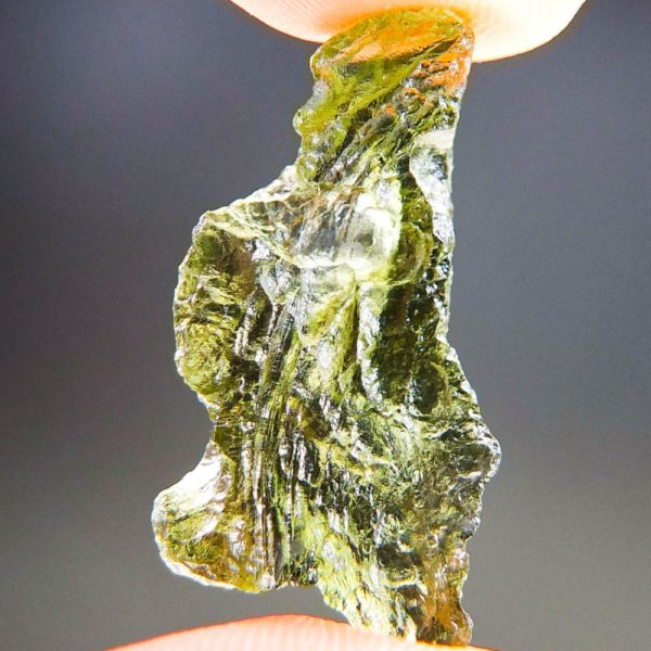 Quality A+/++ Shiny Olive Green Moldavite Natural Piece (2.03grams) 4