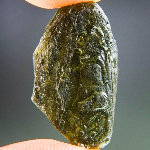 Brown Green Moldavite With Abrasion (4.11grams) 4