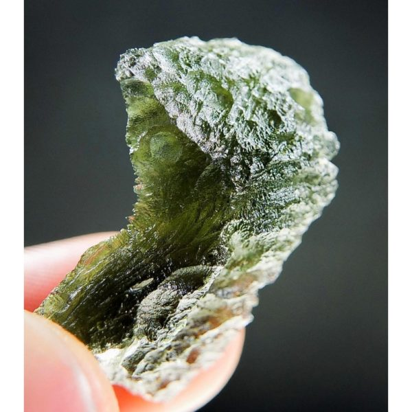 Shiny Olive Green Rare Shape Moldavite (5.16grams) 5