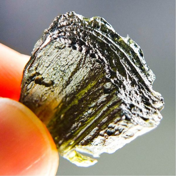 Glossy Olive Green Moldavite (4.77grams) 5