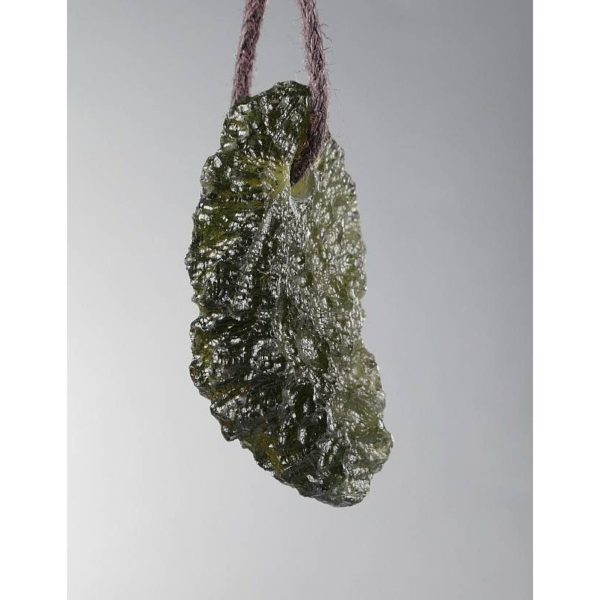 Fine Jewelry Shape Drilled Moldavite Necklace (3.2grams) 2