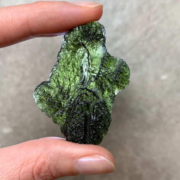 Large Meaningful Shape Like a Sculpture Moldavite (17.34gr)