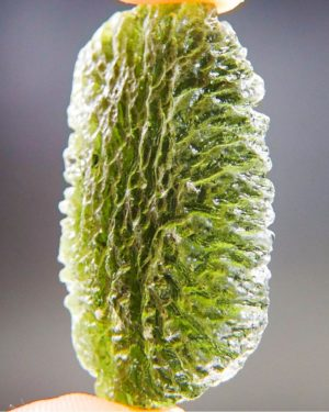 Abrasion Large Moldavite With Certificate Of Authenticity (11.48grams) 2