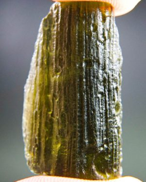 Brown Green Shiny Moldavite With Certificate Of Authenticity (6.19grams) 1
