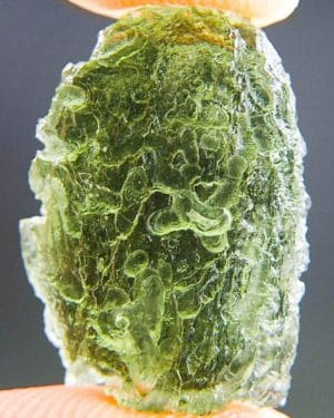 Drop Shape Light Green Moldavite (2.04grams) 1