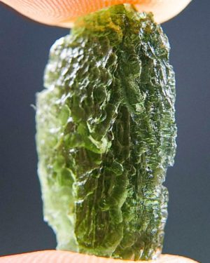 Drop Shape Light Green Moldavite (2.04grams) 2