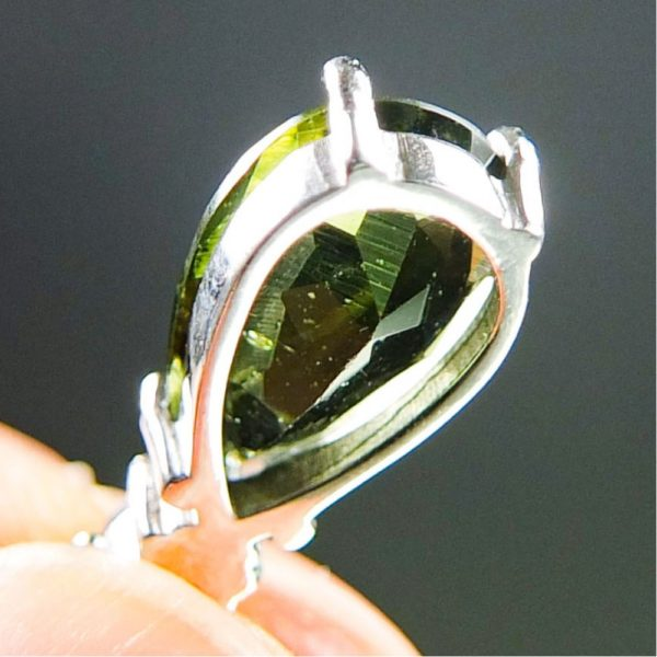 Faceted Moldavite With Garnets Pendants With Certificate Of Authenticity (2.0grams) 5