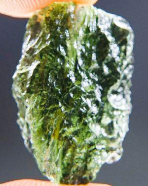 Glossy Apple Green Moldavite From Chlum (2.2grams) 1