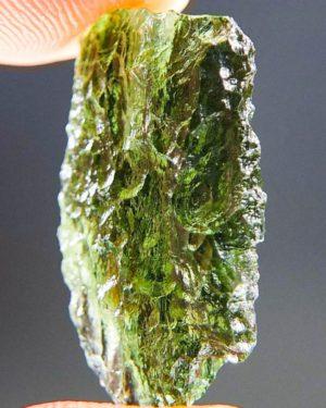 Glossy Apple Green Moldavite From Chlum (2.2grams) 2