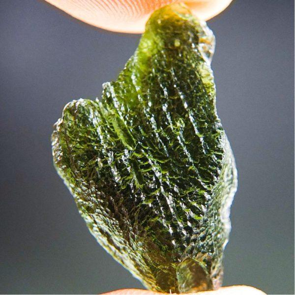 Glossy Unique Shape Moldavite (2.64grams) 1