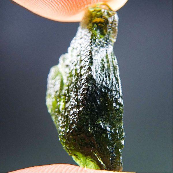 Glossy Unique Shape Moldavite (2.64grams) 2