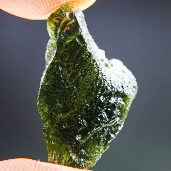 Glossy Unique Shape Moldavite (2.64grams) 4