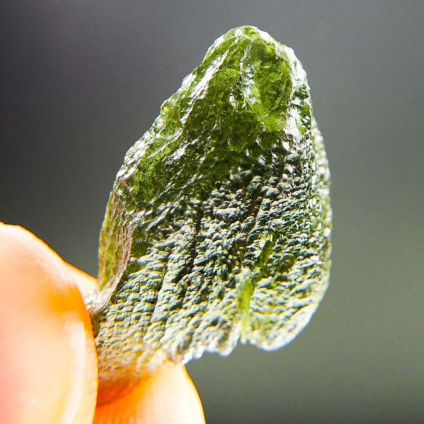 Glossy Unique Shape Moldavite (2.64grams) 5